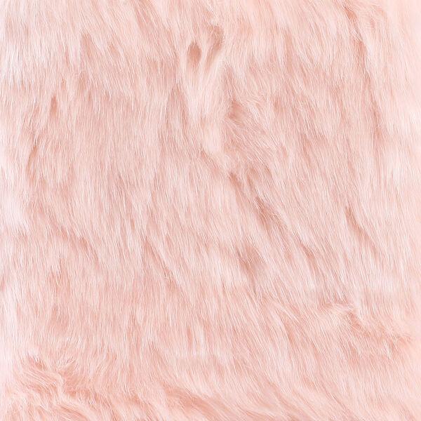 Faux Fur Rectangle Bench - Pink, image 7