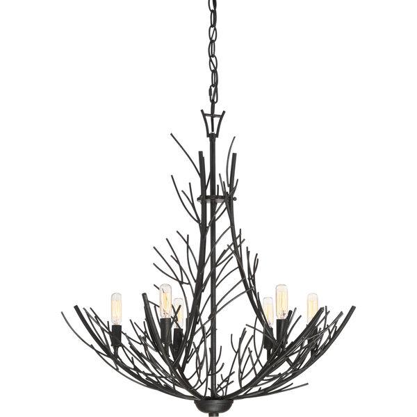 Thornhill Marcado Black Six-Light Pendant, image 1