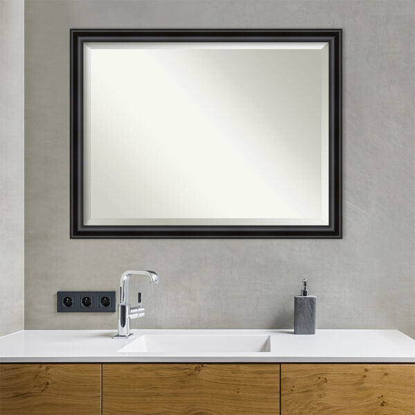 Black 44W X 34H-Inch Bathroom Vanity Wall Mirror, image 3