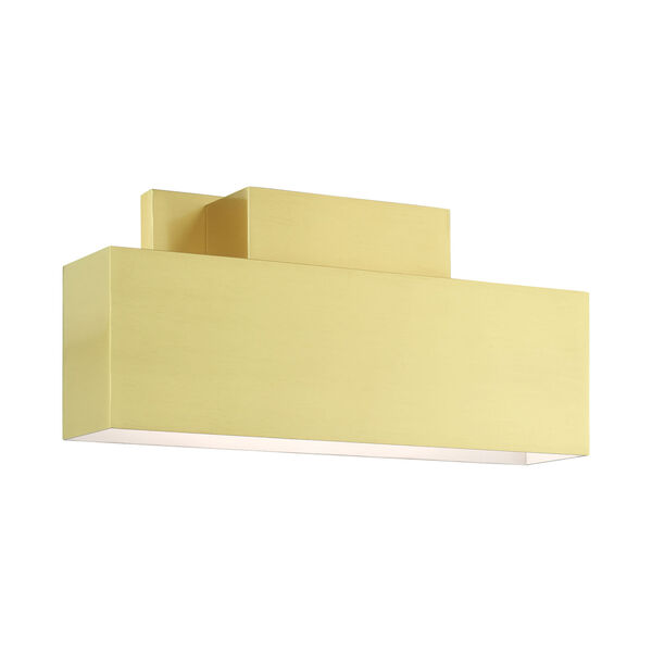 Lynx Satin Brass Two-Light Outdoor ADA Wall Sconce, image 1