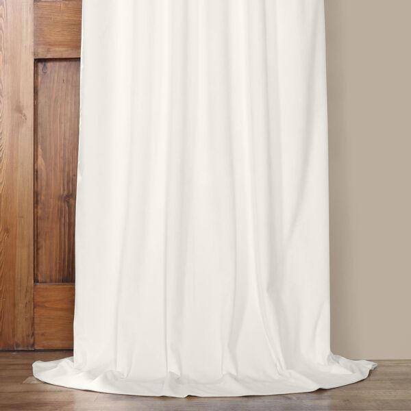 White 108 x 50 In. Plush Velvet Curtain Single Panel, image 5