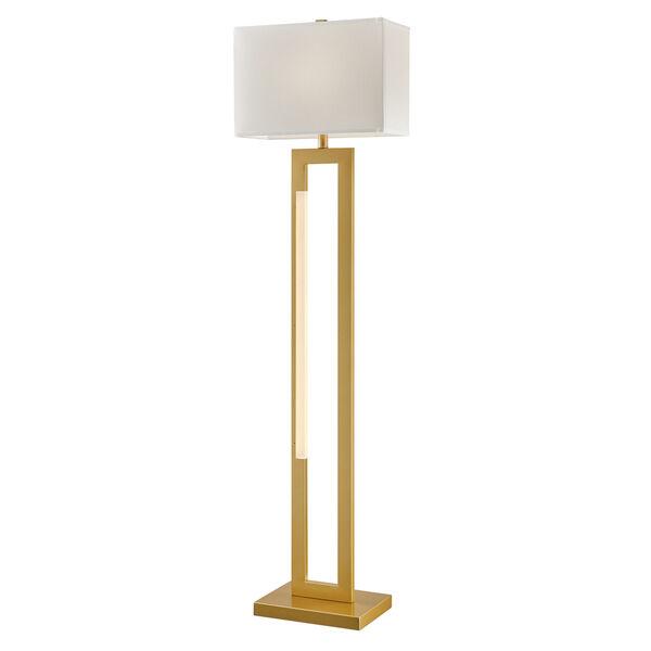 Darrello Gold LED Floor Lamp, image 1