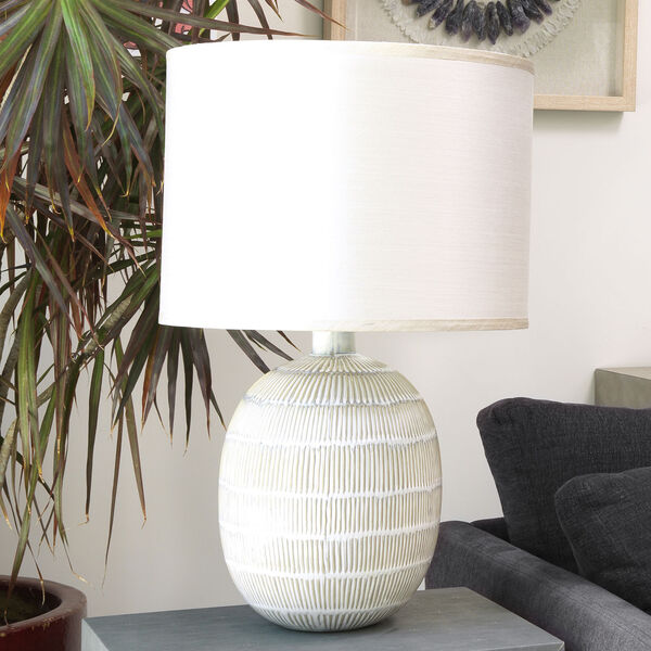 Prairie Beige and Off White One-Light Table Lamp, image 3