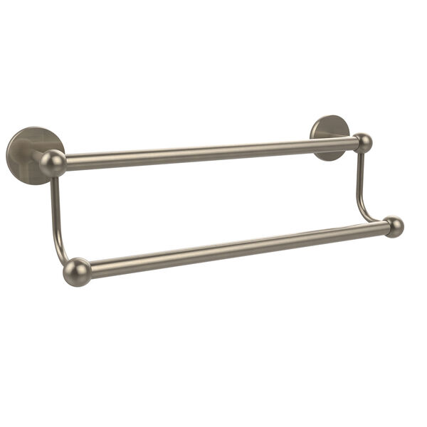 Antique Pewter 18-Inch Double Towel Bar, image 1