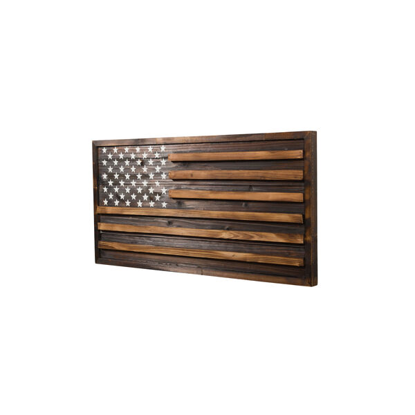 Rustic Pine Multicolor American Flag Wall Art, image 2