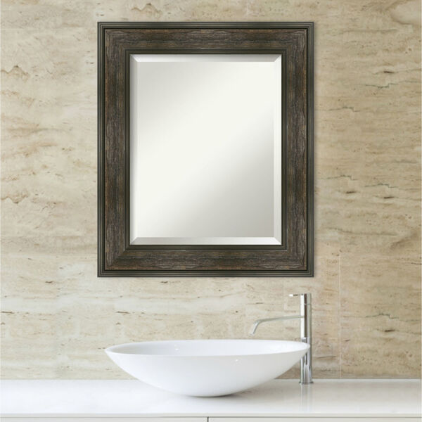 Rail Brown 22W X 26H-Inch Bathroom Vanity Wall Mirror, image 5