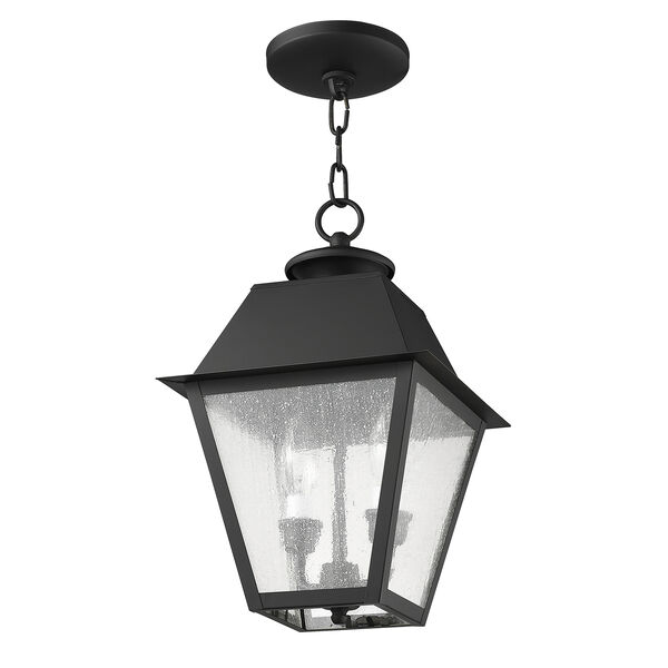 Mansfield Black Two-Light Outdoor Pendant, image 2