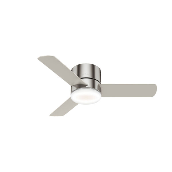 Minimus Low Profile Brushed Nickel 44-Inch LED Ceiling Fan, image 1