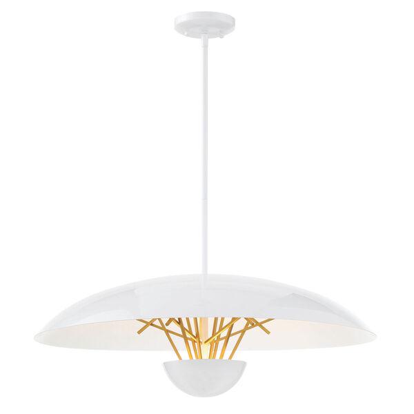 Sun Core Sand White With Honey Gold 26-Inch LED Pendant, image 1
