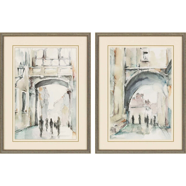 Neutral 32 H x 24 W-Inch Watercolor Arches I Wall Art, Set of 2, image 2