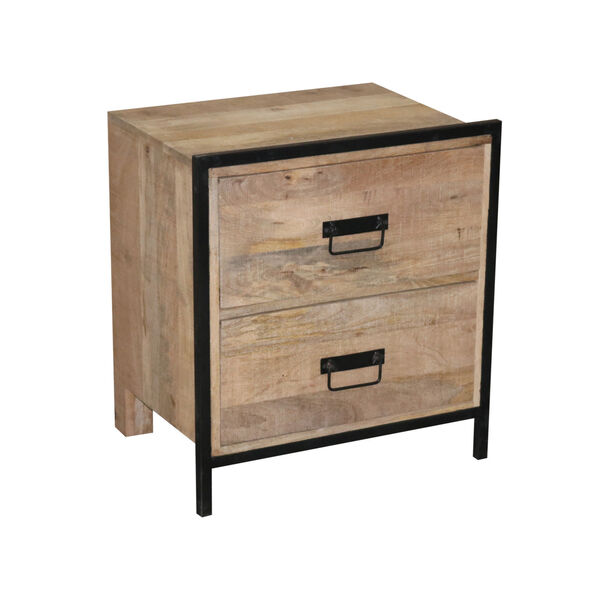 Outbound Natural and Black Nightstand, image 2
