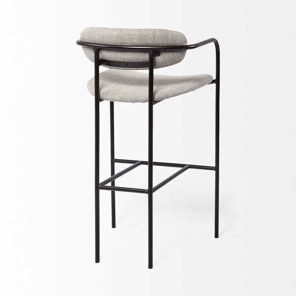 Parker Gray and Black Bar Height Stool, image 5