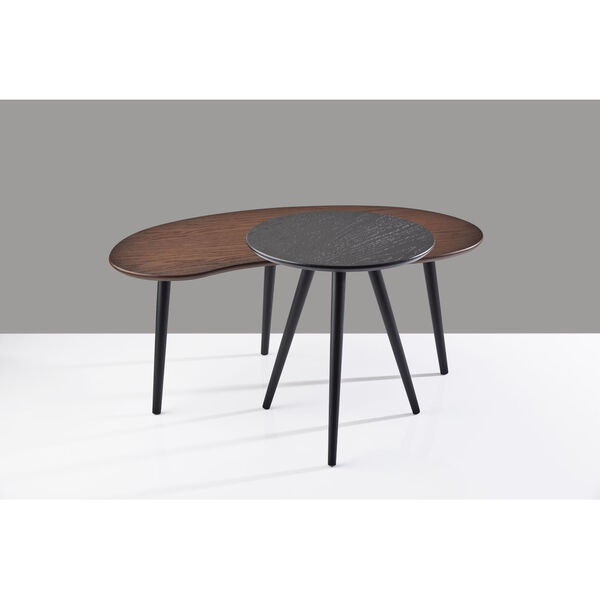 Gilmour Black and Walnut Nesting Table, image 5