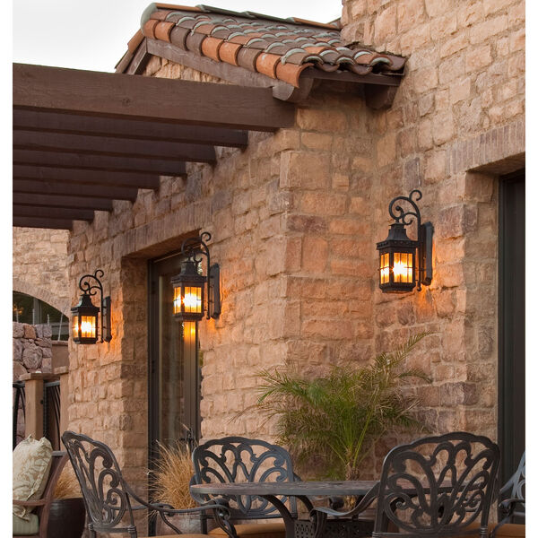 Nantucket EE Fluorescent Country Forge One-Light Outdoor Wall Mount, image 2