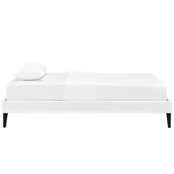 Tessie Twin Bed Frame with Squared Tapered Legs, image 4