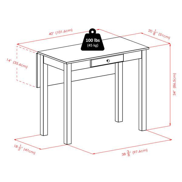 Perrone Walnut Three-Piece Dining Table Set, image 5
