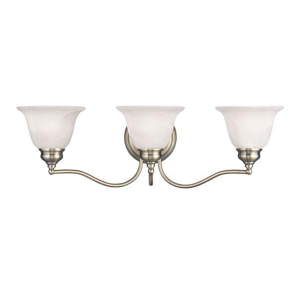 Essex Antique Brass 24-Inch Three-Light Bath Light, image 1
