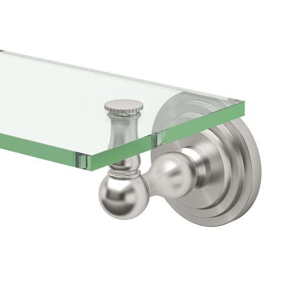 Marina Satin Nickel Glass Shelf, image 2