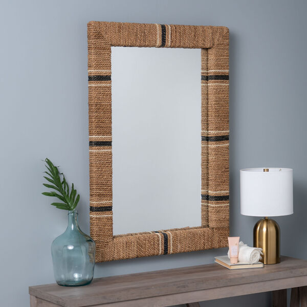Louise Brown and Black 41-Inch x 29-Inch Wall Mirror, image 1