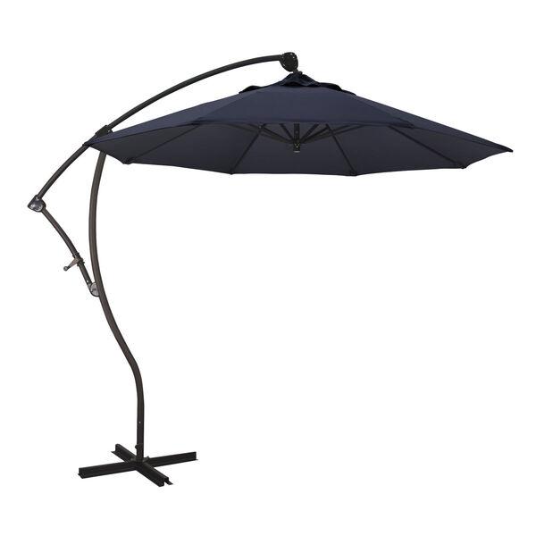 Bayside Bronze with Navy Nine-Feet Sunbrella Patio Umbrella, image 1
