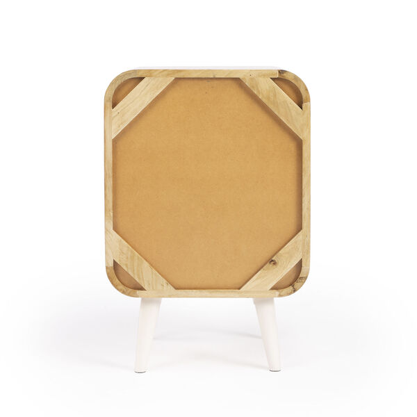 Butler Loft Danville Light Brown and White End Table with Storage, image 6