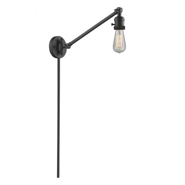 Franklin Restoration Matte Black 5-Inch One-Light Swing Arm, image 1