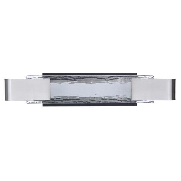 Harmony Flat Black and Polished Nickel LED Vanity Light, image 1