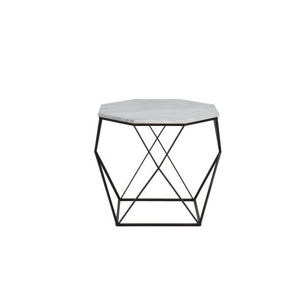 Kingstone Volakas Marble And Dark Bronze End Table, image 1