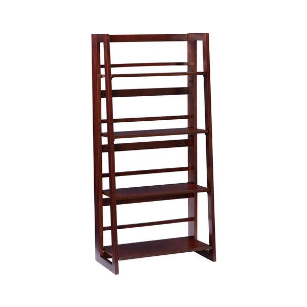 Olivia Walnut Folding Bookcase, image 1