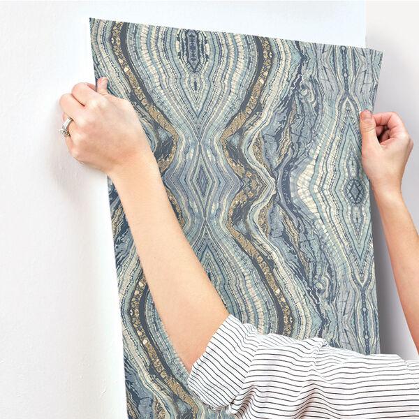 Antonina Vella Blue Kashmir Kaleidoscope Wallpaper, image 7