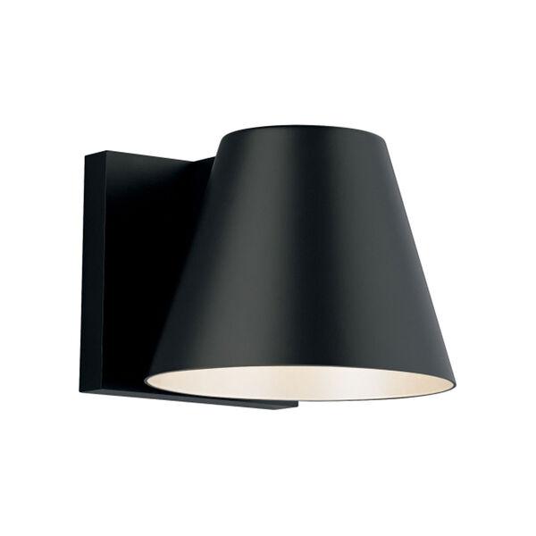 Bowman 6 Black One-Light LED Wall Sconce with Black Stem, image 1