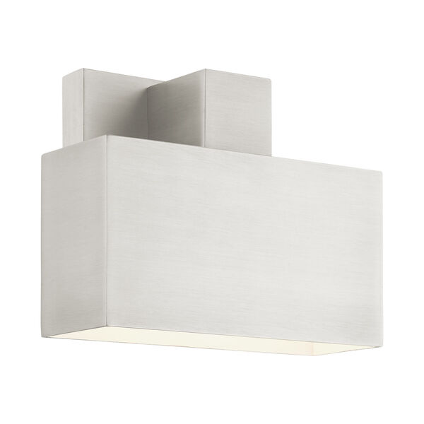 Lynx Brushed Nickel Seven-Inch One-Light Outdoor ADA Wall Sconce, image 1