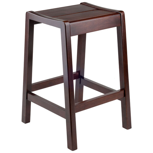 Alicante Walnut Concave Seat Counter Stool, image 1
