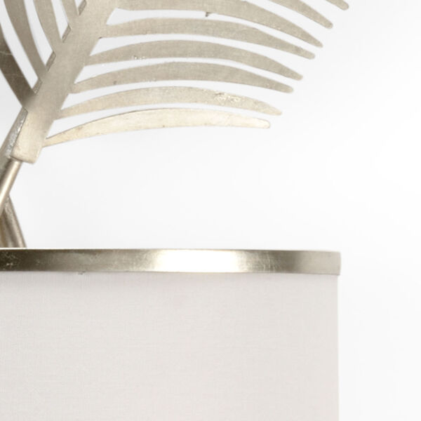 Silver Two-Light Palm Wall Sconce, image 2