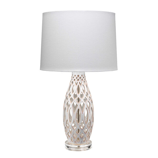 Cora Cream and White One-Light Table Lamp, image 1