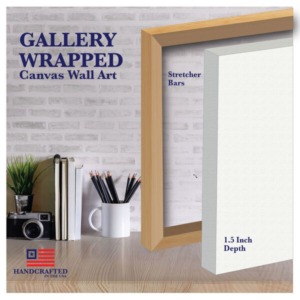 White Flowers Gallery Wrapped Canvas, image 4