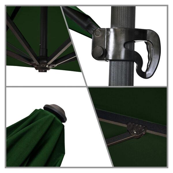 Cali Bronze with Forest Green Nine-Feet Sunbrella Patio Umbrella, image 4