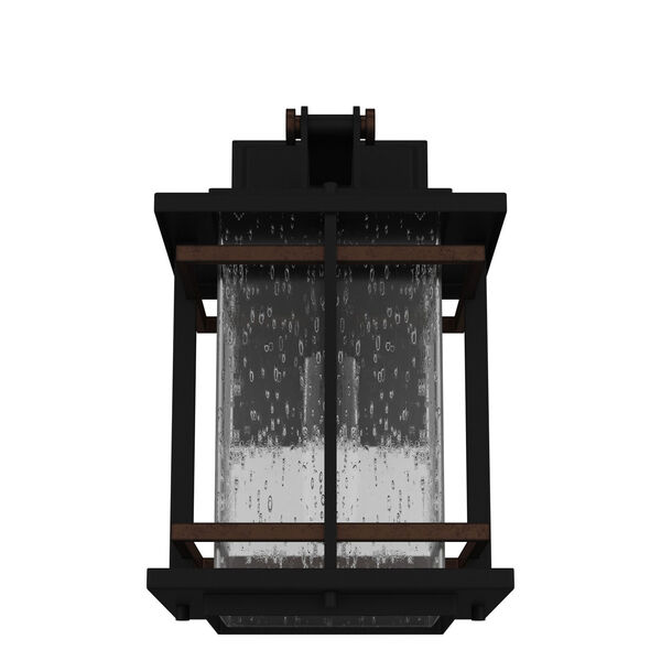 San Marcos Black with Antique Copper Accents 11-Inch One-Light Outdoor Wall Sconce, image 4