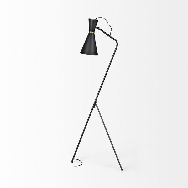 Eris III Black and Brass One-Light Floor Lamp, image 5
