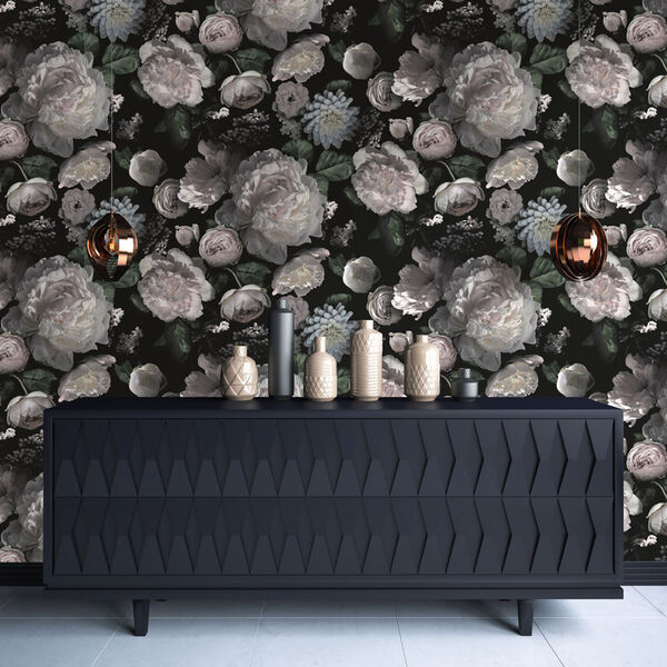 Moody Floral Removable Wallpaper, image 3