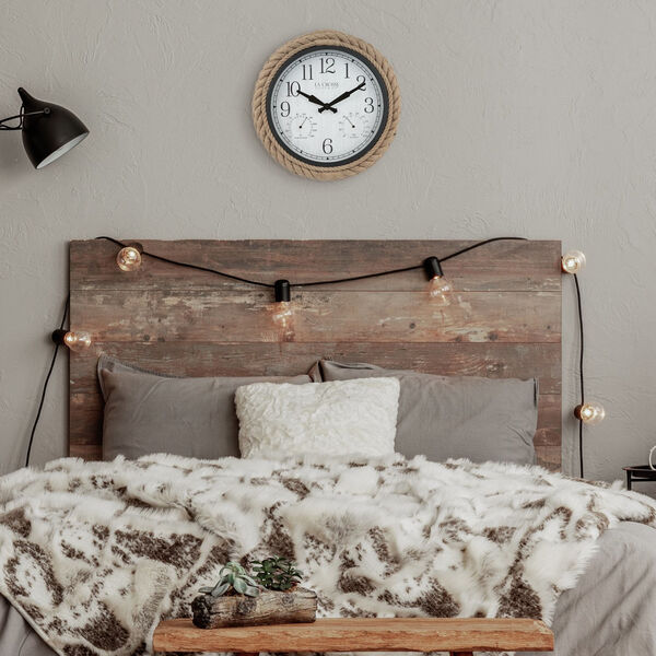 Brown Rope Case Outdoor Wall Clock, image 3