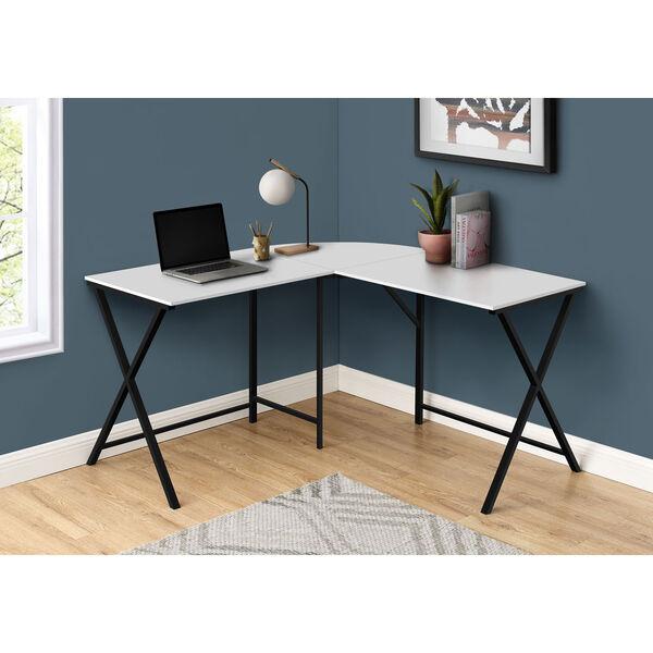 White and Black Computer Desk, image 2