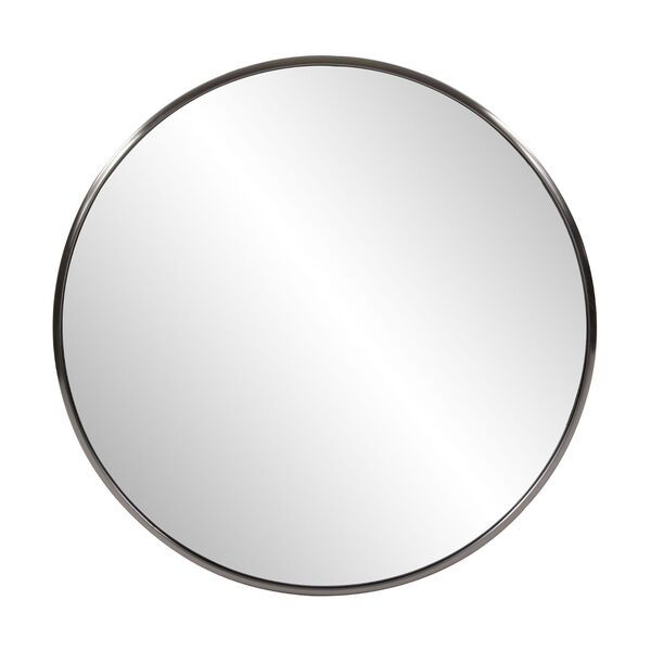 Yorkville Brushed Titanium 32-Inch Round Wall Mirror, image 1