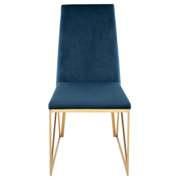 Caprice Peacock and Gold Dining Chair, image 2