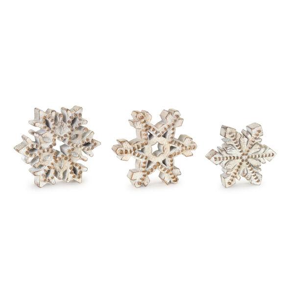 Antique White Snowflakes, Set of 3, image 1