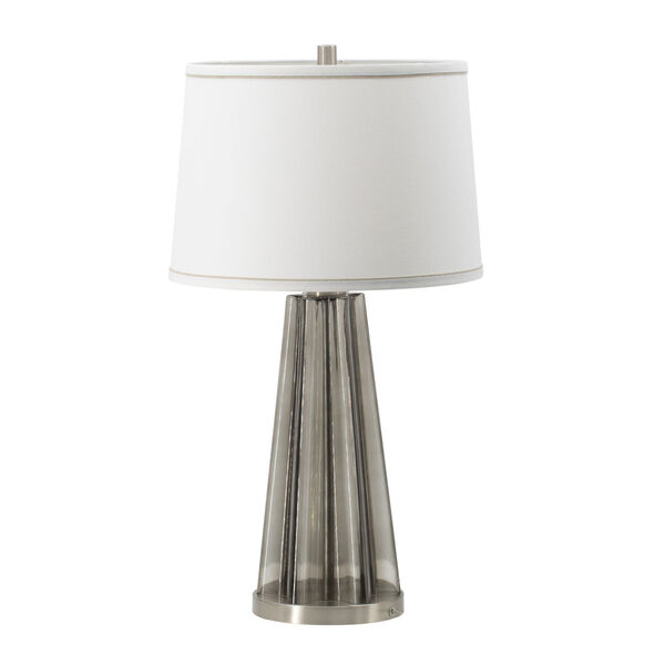 Smoke and SIlver One-Light Table Lamp, image 1