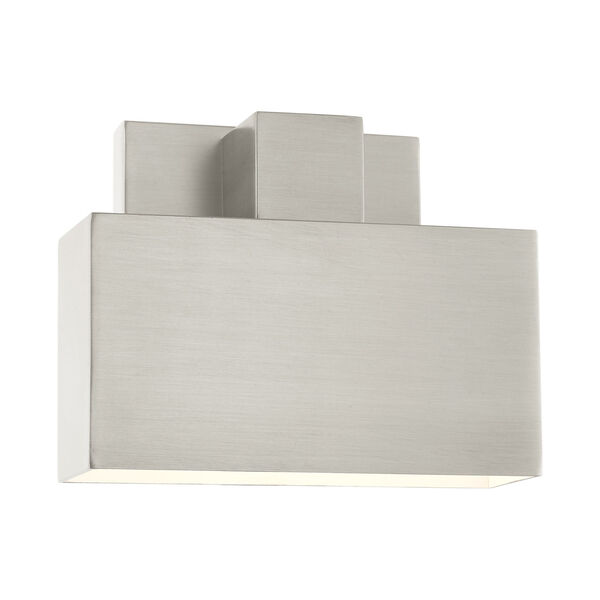 Lynx Brushed Nickel Seven-Inch One-Light Outdoor ADA Wall Sconce, image 3