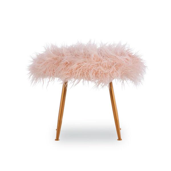 Aiden Pink Fur Stool, image 2