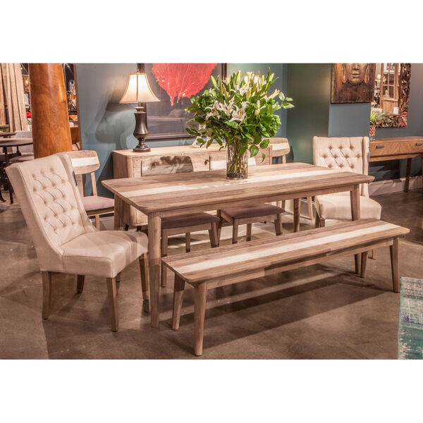 Newport Whitewash and Weathered Gray 71-Inch Dining Table, image 5