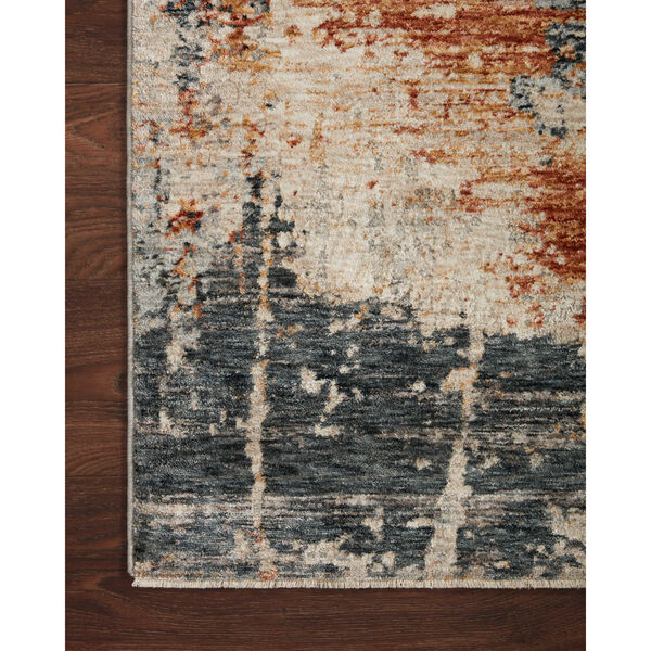 Axel Stone, Blue and Spice 5 Ft. x 7 Ft. 8 In. Area Rug, image 4